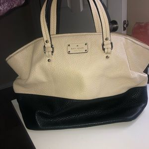 Kate Spade White/Black Large Tote